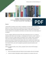Primavera 2015 SPGS Estudios Críticos de La Tecnología