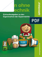 Greenpeace Einkaufsratgeber Essen Ohne Gentechnik