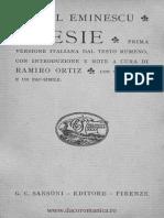 Poezii Mihai Eminescu in Italiana