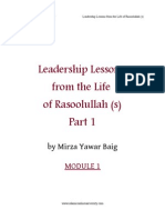 Leadership Lessons from Rasulullah s.a.w (Module 1)