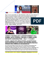 Variety Technology & Entertainment Fall Summit 2014  Overall Review & James Gunn Keynote Conversation - Part I - FuTurXTV & HHBMedia.com - 10-25-2014.pdf