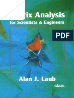 Matrix Analysis for Scientists and Engineers