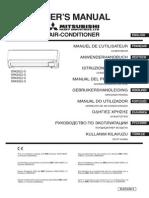 Air Conditioner Mitsubishi Heavy Industries SRK50ZJ-S Manual