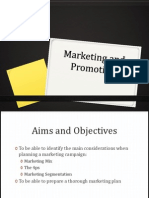 Marketing and Promotion