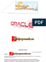 Manual de Iniciación a Oracle