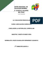 EVIDENCIA de LECTURA La Historia Del Curriculum