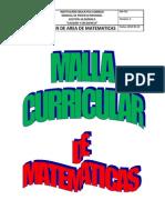 malla Curricular de Matematicas Secundaria