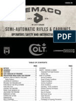Diemaco Semi-Automatic Rifles and Carbines (Operator's Safety and Instruction Manual)