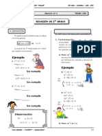 III BIM - 3er. Año - ALG - Guía 6 - Ecuación de 2do Grado.doc