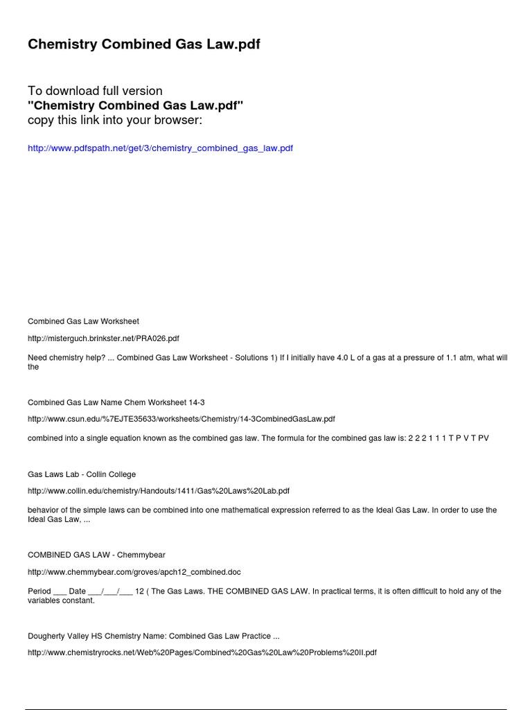 Free Worksheet Combined Gas Law Worksheet Phinixi Worksheets – Ideal Gas Law Practice Worksheet