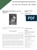 Crítica a Cuentos de Elena Aldunate