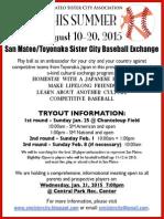 2015 San Mateo Sister City Informational Flier