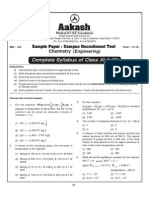 Chemistry Engg Practice Test Paper-1