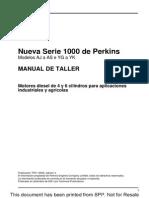 MANUAL DE Taller MOTOR PERKINS SERIE 1000 | Turbocompresor | Aluminio