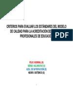 Criterios Para Evaluar Los Estandares Del Modelo de Calidad 1