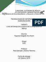 Historia de La Computacion en Mèxico
