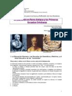 5. La Educación en Roma. Ficha de Contenidos. Yépez. 2014