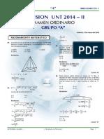 Examen Letras Completo UNT 2014 - II Letras A