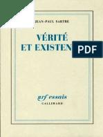 Sartre -Verite Et Existence
