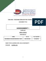 Assigment Teaching English 3