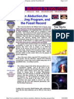 Alien Abduction,The Breeding Program, And the Fossil Record