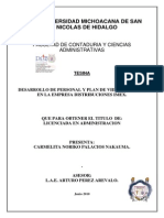 DESARROLLODEPERSONALYPLANDEVIDAYCARRERAENLAEMPRESADISTRIBUCIONESIMEX