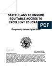 USDE - State Plans to Ensure Equitable Access to Excellent Educators