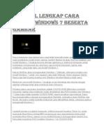 Tutorial Lengkap Cara Install Windows 7 Beserta Gambar