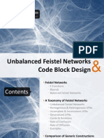 Unbalanced feistel newtworks & Code Block design