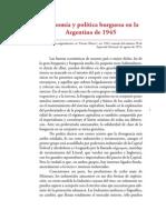 Economia y Politica Burguesa 1945