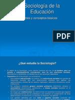 Sociología de La Educación. Corrientes y Conceptos Básicos.