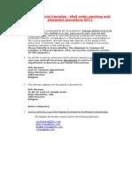 Commercial Shipment Procedure SP11