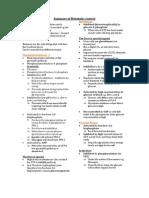Summary of Metabolic Control