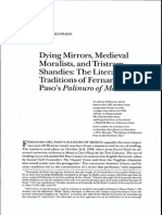 Dying Mirrors, Medieval Moralists, and Tristram Shandies
