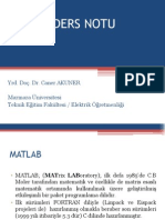 96491124 Matlab Ders Notu Sunum