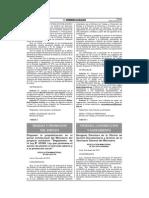 Ley Pulpìn, Reglamento en Proyecto