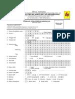 Formulir d3 Pln Undip