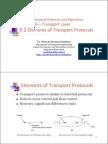 6.2 Elements of Transport Protocols