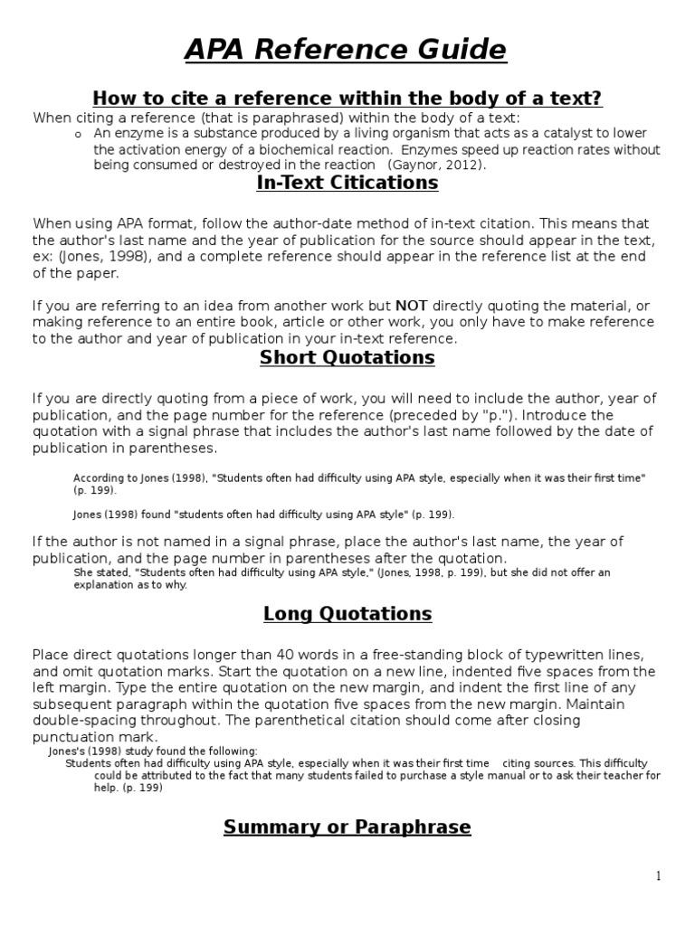 Apa format guide directions citation apache http server ccuart Images