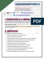 CARACENA, INGENIERIA Y FORMACIÓN. Servicios profesionales año 2015