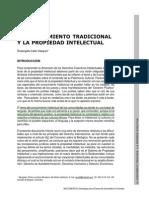 CALLE Vasquez Rosangela, El Conocimiento Tradicional y La Propiedad Intelectual