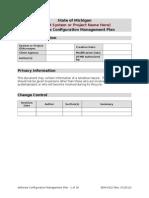 software configuration management plan