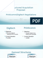 Printicomm's Proposed Acquisition of Digitech
