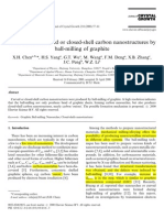 Generation of curved or closed-shell carbon nanostructures by ball-milling of graphite