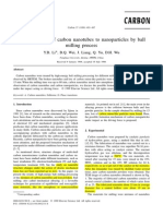 Transformation of carbon nanotubes to nanoparticles by ball milling process