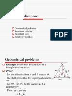 Vector Applications