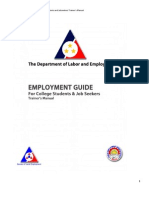 Job Seekers Employment Guide Training Manual - Colored