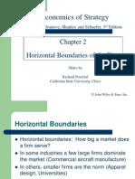 Horizontal Boundaries of a Firm