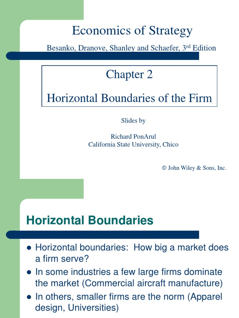 horizontal boundaries of the firm
