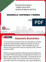 Desarrollo Sostenible y Minería Eer-tacna-2013-Castro